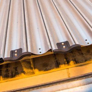 Roller shutters closeup