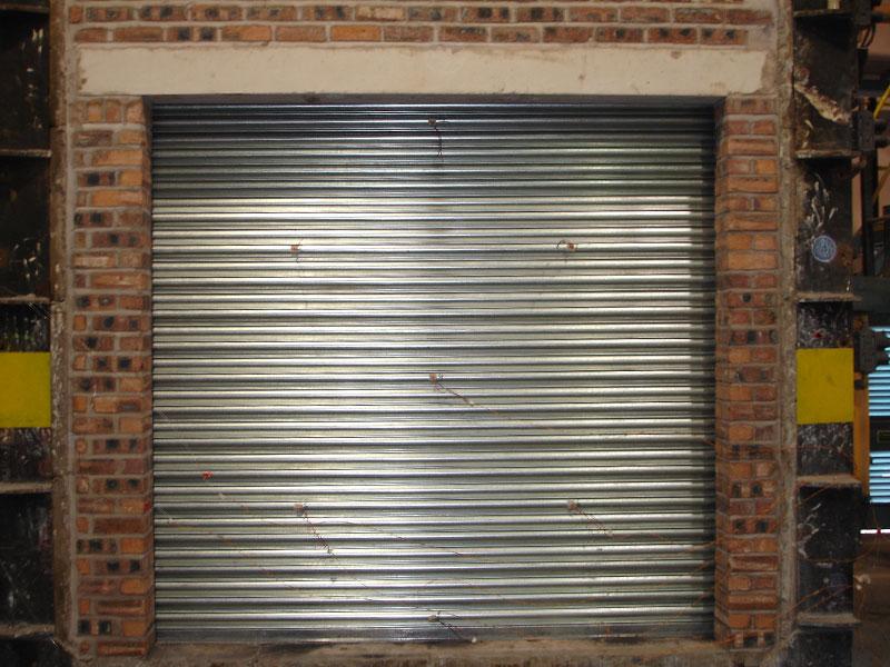 Stainless steel fire resistant roller shutter