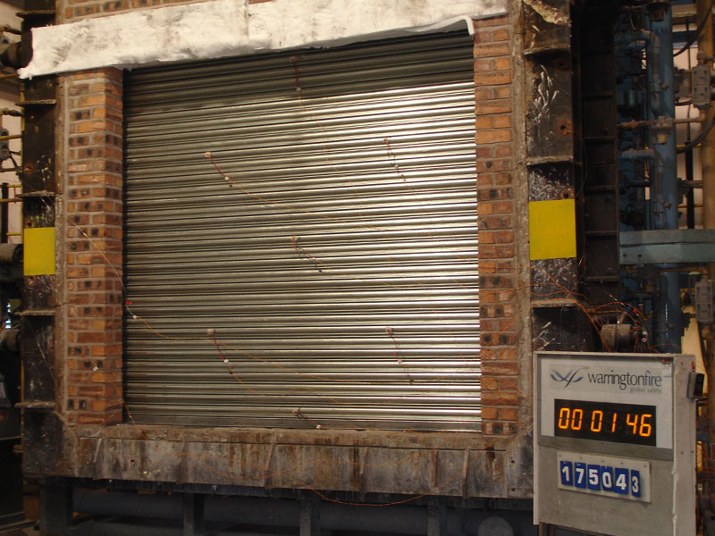 fire resistance roller shutter with furnace