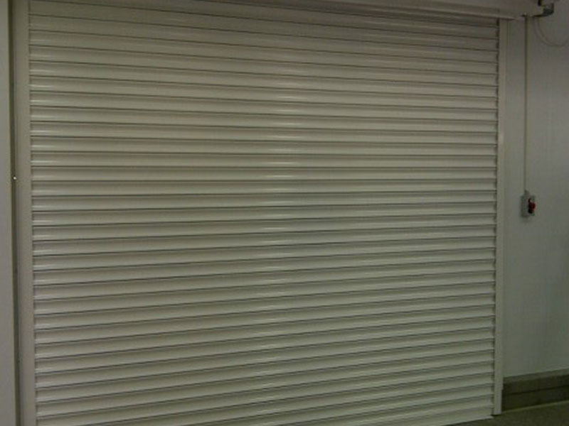 internal closed fire resistant roller shutter, left hand aspect