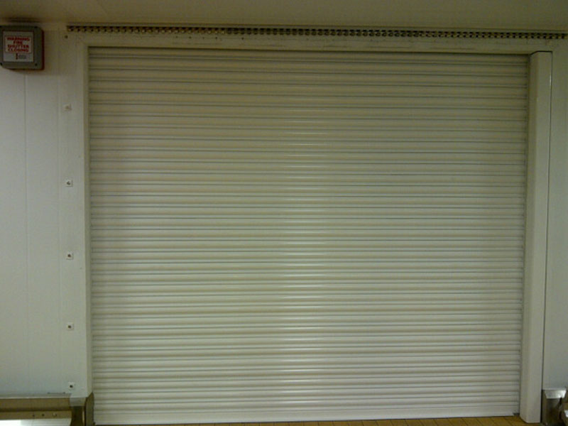 internal fire resistant roller shutter closed