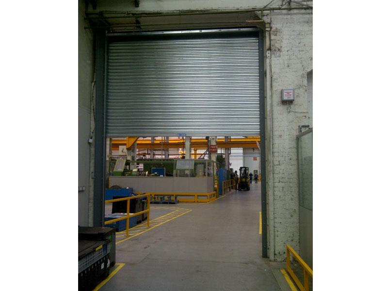 Industrial fire resistant roller shutter