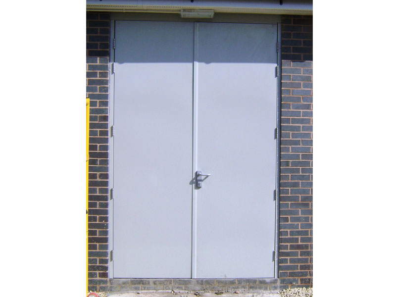 Double steel security doors