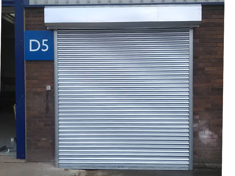 Roller shutters used on commercial unit