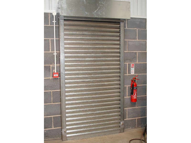 Commercial roller shutter door