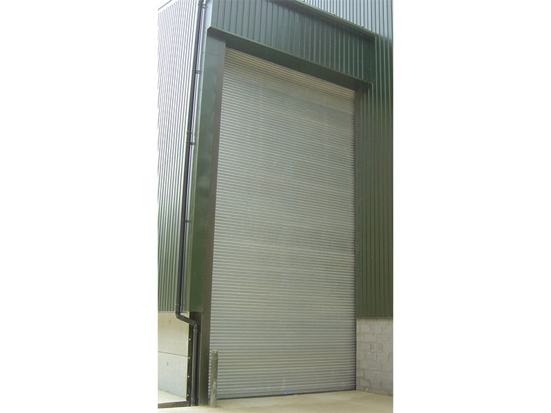 Large industrial roller shutters