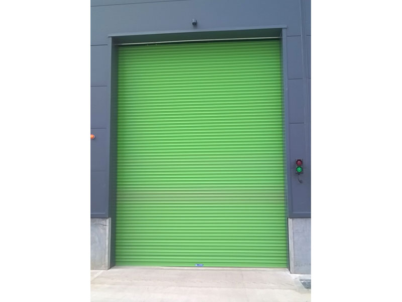 Safe drive roller shutters in green