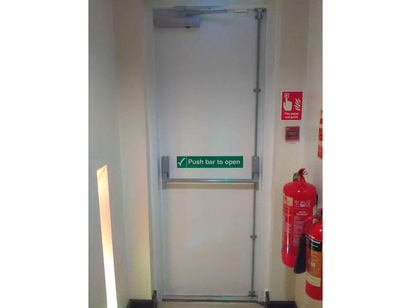 Fire exit door