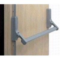 Silver industrial push door handle