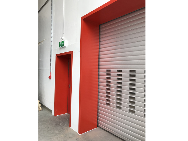 Insulated roller shutter at Hops Store