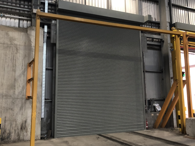 Powered roller shutter