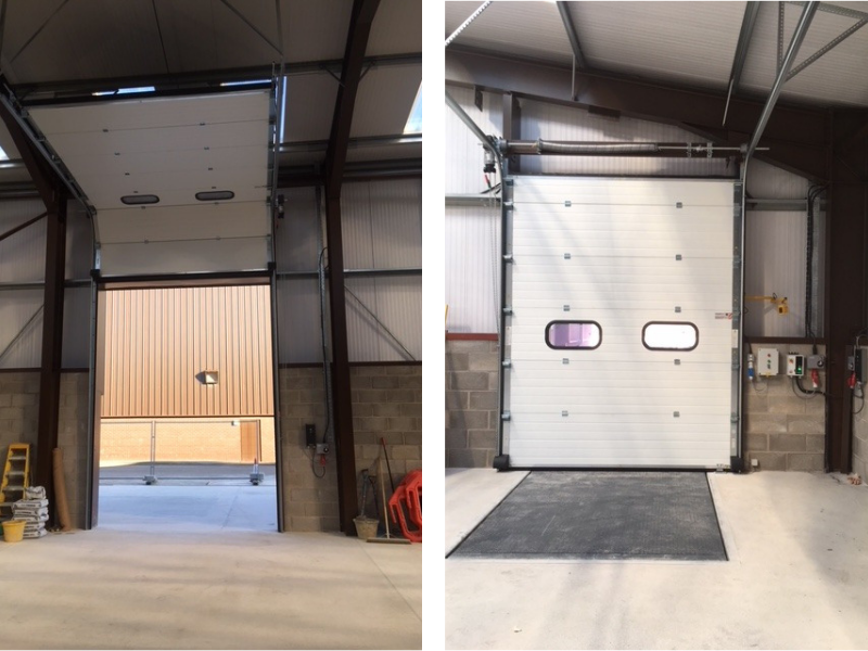 Two roller shutters collated